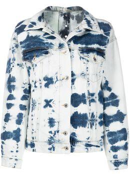 MSGM джинсовая куртка с принтом тай-дай 2841MDH49L207274