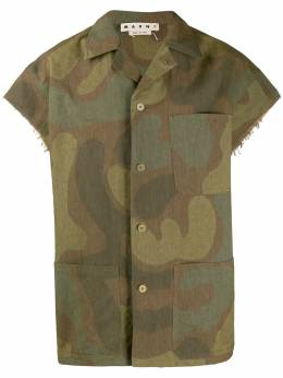 Marni рубашка с камуфляжным принтом CUMU0152A0S52762