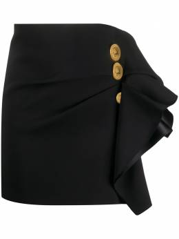 Versace юбка мини с оборками A86364A222813