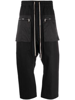 Rick Owens DRKSHDW укороченные брюки с низким шаговым швом DU20S5375CRND