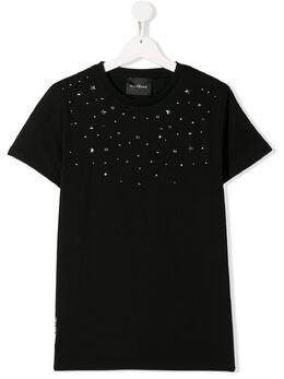 John Richmond Junior TEEN stud embellished T-shirt RBP20148TSOFW0148
