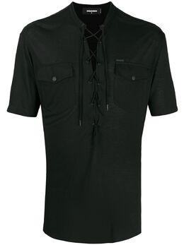 Dsquared2 футболка с короткими рукавами и шнуровкой S71GL0033S22590