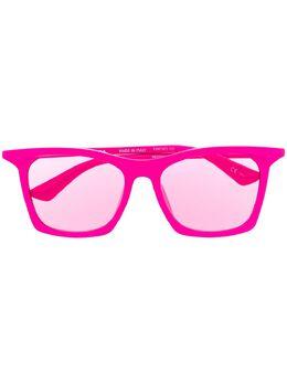 Balenciaga Eyewear солнцезащитные очки в прямоугольной оправе с затемненными линзами 621648T0003