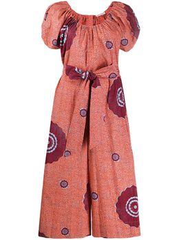 Ulla Johnson платье с абстрактным принтом и объемными рукавами PS200417