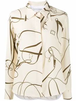 Victoria Beckham рубашка с длинными рукавами и принтом 1120WSH000712C