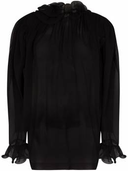 Magda Butrym прозрачная блузка с оборками 2115208007
