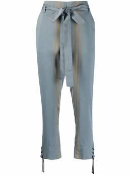 Ann Demeulemeester укороченные брюки в полоску 20011402P166