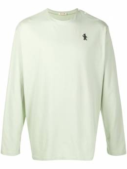 Marni футболка с длинными рукавами и нашивкой HUMU0156A0S22763
