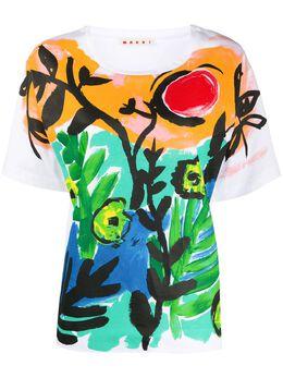 Marni paint printed T-shirt THJEL32EPLSCQ68