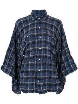 R13 клетчатая рубашка со сборкой R13W7359585