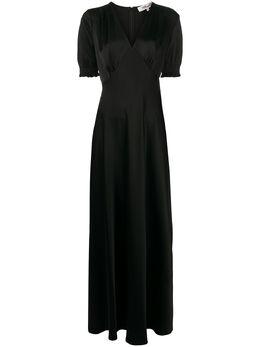 Dvf Diane Von Furstenberg длинное платье с V-образным вырезом 13895DVF