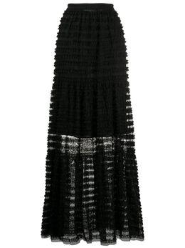 Philosophy Di Lorenzo Serafini полупрозрачная юбка в полоску A01292127