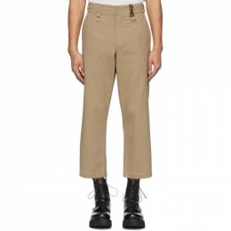 R13 Khaki Rings Slouch Trousers R13M4008C-6BE