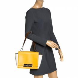 Carolina Herrera Tri Color Leather Casati Shoulder Bag