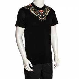 Givenchy Black Butterfly Print Cotton Crew Neck T-Shirt S 280325