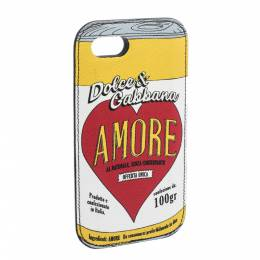 Dolce&Gabbana Multicolor Amore Print Leather iPhone 7 Case 282076