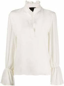 Nili Lotan блузка с оборками на воротнике 10550W30