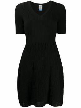 M Missoni трикотажное платье с V-образным вырезом 2DG003692K004Z