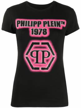 Philipp Plein футболка с декорированным логотипом S20CWTK1935PTE003N