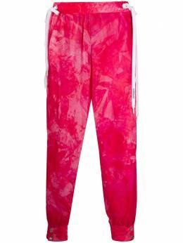 Khrisjoy спортивные брюки с кулиской и принтом тай-дай BSW017NYTIE