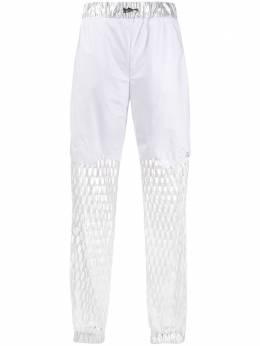 Philipp Plein зауженные брюки с вырезом S20CWRT0789PKN002N