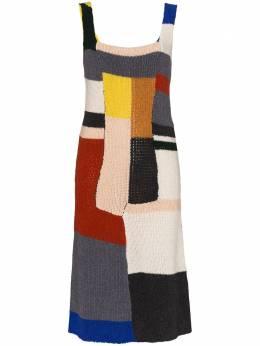 Eckhaus Latta трикотажное платье в стиле колор-блок 767ELPS20MMULTI