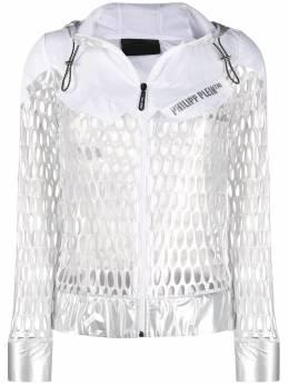Philipp Plein спортивная куртка с эффектом металлик S20CWRB0786PKN002N