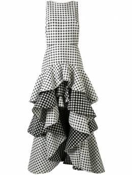 Tadashi Shoji ярусное жаккардовое платье без рукавов BOJ20243L