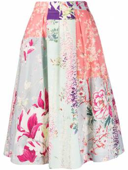 Etro пышная юбка с цветочным принтом 133714395
