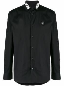 Philipp Plein рубашка с логотипом на воротнике S20CMRP1217PTE003N