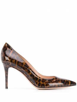 Gianvito Rossi туфли-лодочки с леопардовым принтом и заостренным носком G2458085RICVON