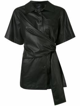 Goen.J рубашка с завязками на поясе GJ20SST07