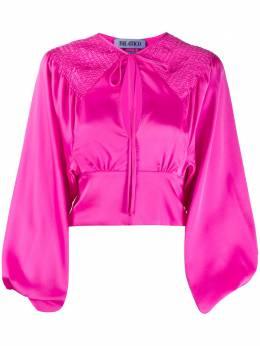 The Attico приталенная блузка со сборками 201WCT14E011