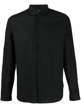 Saint Laurent полосатая рубашка с закругленным воротником 599213Y1A47