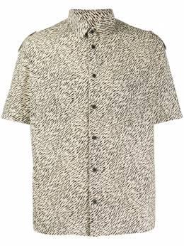 Saint Laurent рубашка с зебровым принтом 604908Y1A74