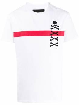 Philipp Plein футболка с вышивкой Skull P20CMTK4454PJO002N
