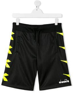 Diadora Junior TEEN logo print jersey shorts 022282