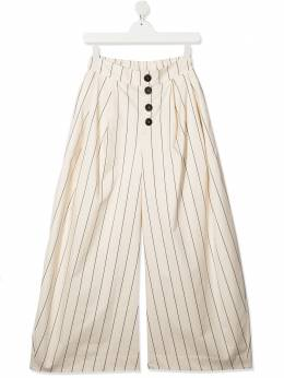 Unlabel TEEN striped wide-leg trousers COLVER2T