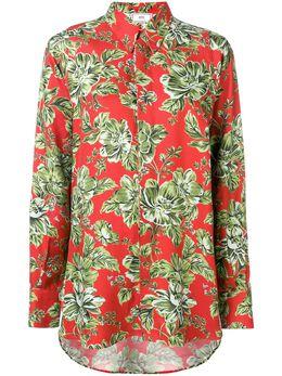 Ami Paris рубашка оверсайз с длинными рукавами и цветочным принтом H19FC150429