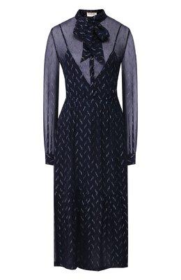 Шелковое платье Saint Laurent 618962/Y6A54