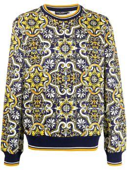 Dolce&Gabbana толстовка с принтом Maiolica G9OW6TFI7VP