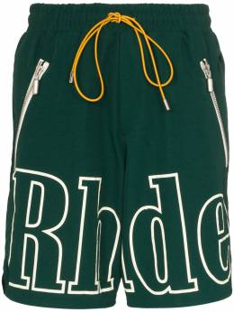 Rhude спортивные шорты с логотипом RHU06PS20039