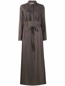 P.a.r.o.s.h. платье с бахромой и завязками TILTD720955