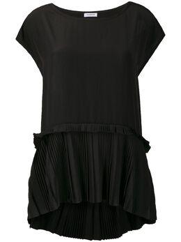 P.a.r.o.s.h. pleated detail asymmetric hem blouse D311318POTEREX