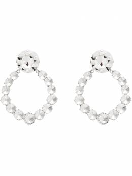 Alessandra Rich серьги-кольца с кристаллами FABA2046J004