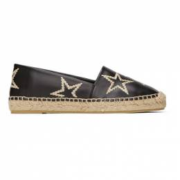 Stella McCartney Black Selene Star Espadrilles 800184N0115