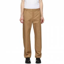 Burberry Tan Cotton Twill Tailored Trousers 4563534