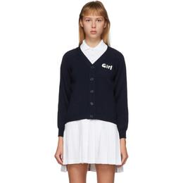 Comme Des Garcons Girl Navy Lochaven Of Scotland Edition Girl Cardigan NE-N001-051