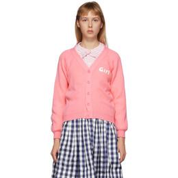 Comme Des Garcons Girl Pink Lochaven Of Scotland Edition Girl Cardigan NE-N001-051