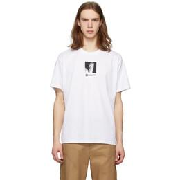 Burberry White Swan Logo Oversized T-Shirt 4563791